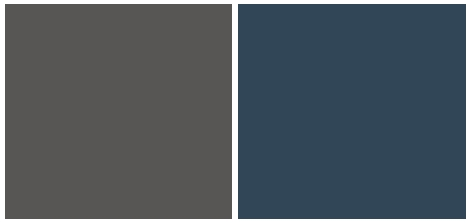 (from L to R) - Iron Mountain, Gentlemen's Grey - by Benjamin Moore (Genthemen's Grey is one of my absolute favorites).